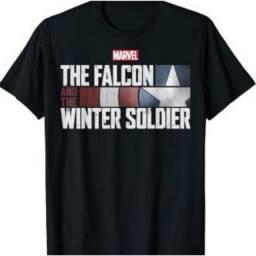 Camiseta Falcão e Soldado Invernal Algodão Unissex