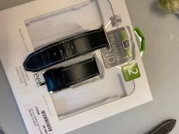 Pulseira Apple Watch original em couro legítimo, pelica.