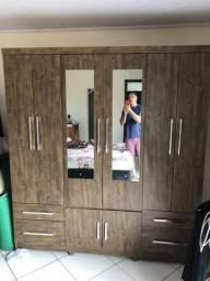 Guarda roupa 6 porta semi-novo lindo MDF