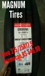 Pneu Novo 215/75R17.5 Liso p Caminhão 3/4