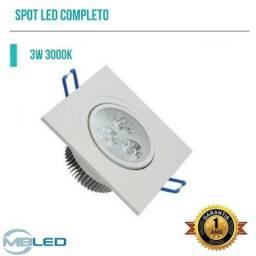 Spot LED 3w embutir gesso drywall sanca forro pvc