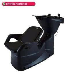 Cadeira e lavatório para salão de beleza