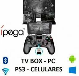 0beca53a0 Controle Joystick Bluetooth Wireless Ipega Pg9076 3 In 1 Ps3/Pc/Celular