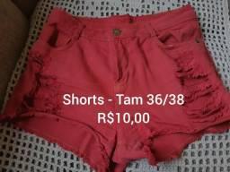 Shorts e saia