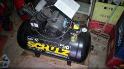 Compressor de Ar 10 Pés 100L 2HP 140PSI Monofásico/Chave magnética