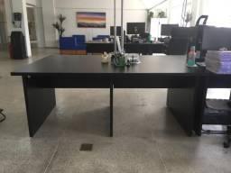 Mesa de trabalho estilo Coworking em MDF 30mm cor preta, medidas 1,80L x 1,20C x 0,77H