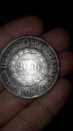 Moeda 2000 réis 1856 original