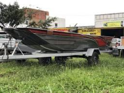 Barco canoa de alumínio novo