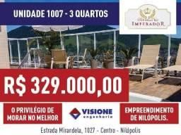 Hora de sair do aluguel: Vivendas do Imperador - Unidade 1007 - 3 quartos - Nilópolis, RJ
