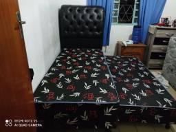 Cama solteiro com auxiliar 9 cm espuma selada conjugada nas duas camas oferta relâmpago