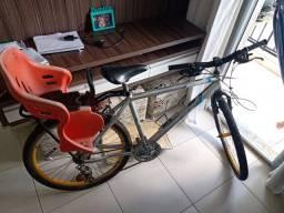 Bicicleta alumínio cadeirinha