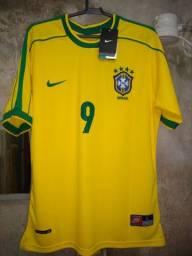 Camisa da seleção brasileira retro de 1998
