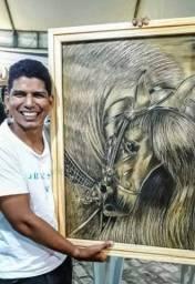 Trasformo sua foto em arte talhada em madeira