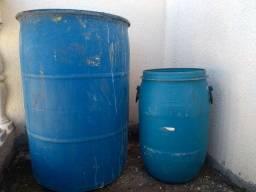 Tambores de plástico 200 litros e 50 litros
