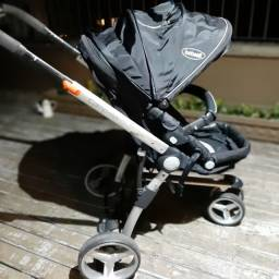 Carrinho de Criança Compass Preto + Bebê Conforto Casulo