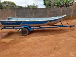 Barco de Alumínio (SEM A CARRETA)