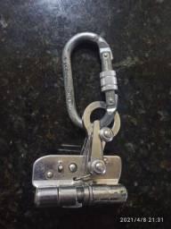 Trava-queda De Aço Inox P/ Corda De 12mm C/ Mosquetão Oval