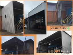Título do anúncio: Cobertura metálica,  Mezaninos loja , comércio,  telhado Metálico garagem.
