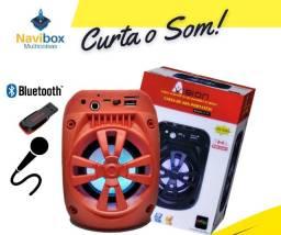 Caixa de Som Bluetooth| Entrada para Microfone