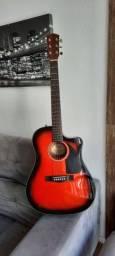 Violão Fender CD60CE Sunburst top