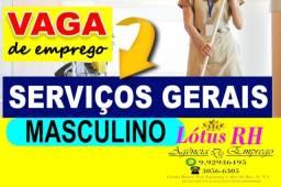 Título do anúncio: Serviços Gerais masculino