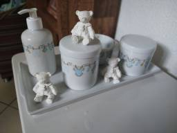 Título do anúncio: Kit higiene de porcelana para bebê