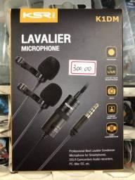 Microfone Lapena duplo, novo