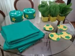 Decoraçao festa verde amarela