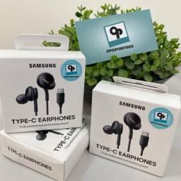 Fone de ouvido Samsung Akg Usb-c Lacrado 12x sj + Envio BR