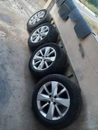 Roda com pneu aro 16 coisa linda