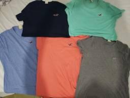 camisetas básicas Hollister original