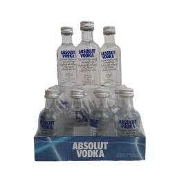 Miniatura Vodka Absolut 50ml - Garrafas de Vidro - Original