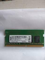 Memória DDR4 04gb notebook