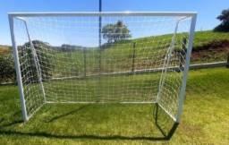 Trave de futebol modelo futsal ou campo society pequeno