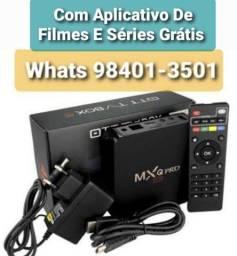 Título do anúncio: Tv Box Novos 4k 5G Garantia Entregamos Aceitamos Cartões e Pix