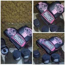 Kit de luva de box feminina
