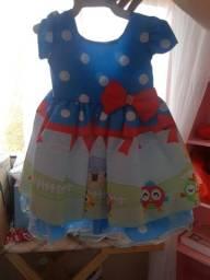 Vestido galinha pintadinha bebê tamanho M