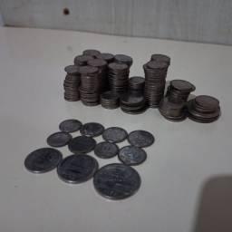 Moedas Antiga (280 moedas de centavos variadas)
