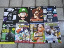 Lote de revistas Nintendo, Playstation e Xbox