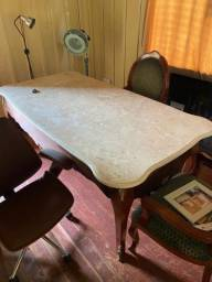 Mesa Escrivaninha Antiga/estilo Inglês/Clássico tampo mármore travertino