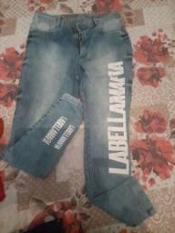 Calça jeans labelamafia