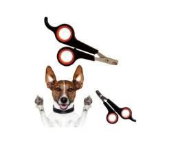 Leve o kit: tesoura pet+luva removedor de pêlos