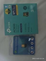 Adaptador USB em ouro Wi-Fi 5 G e bluetooth