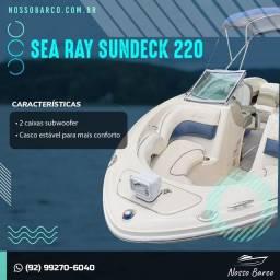 Lancha Sea Ray 220 Sundeck (Compartilhada)