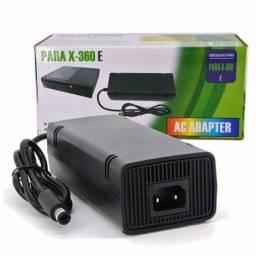 Fonte Xbox 360 Super Slim Bivolt 1 Pino 110v 220v Cabo Força