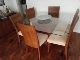 Conjunto de Mesa jantar, cadeiras e buffet/aparador