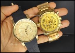 Combo 2 relógios Invicta Yakuza/Bvlgari Gold