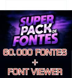 Mega Pack de Fontes para Designer's + Fonte Viewer
