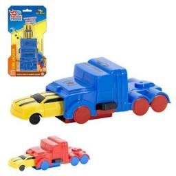 Kit Monster Carro + Caminhão Lançador Infantil Art Brink<br><br>