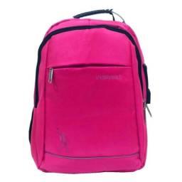Mochila Notebook 15,6 Usb Escolar Impermeável Reforçada